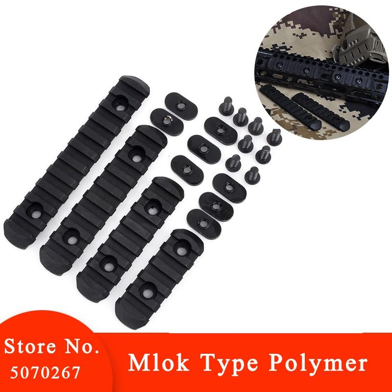 4 pçs elemento handguard tático ferroviário para mp seções arma acessórios tiro paintball polímero picatinny ex254