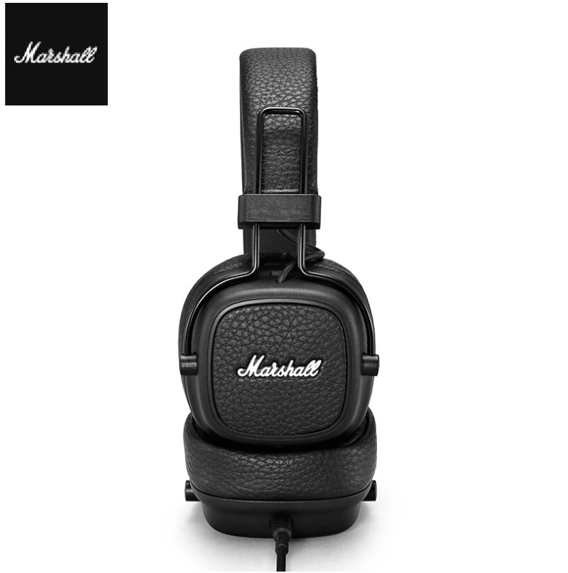 Marshall Major III Wireless Bluetooth Headphone For Pop Rock Music With Leather Microphone Bass Effect