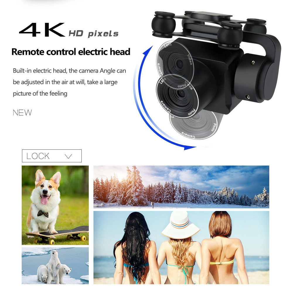New GPS RC Drone 4K Dual HD ESC Anti-Shake Gimbal Brushless Quadcopter 5G WIFI Professional Aerial Photography Helicopter VS F5 enlarge