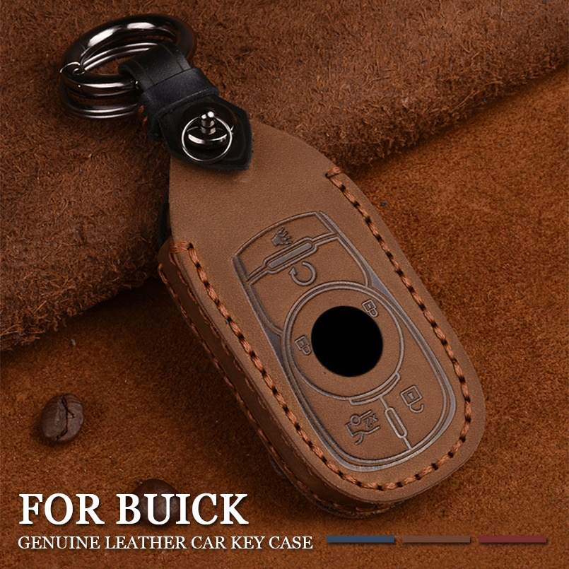 Funda de cuero genuino para coche con mando a distancia, funda para Buick Envision LaCrosse Encore Regal Enclave