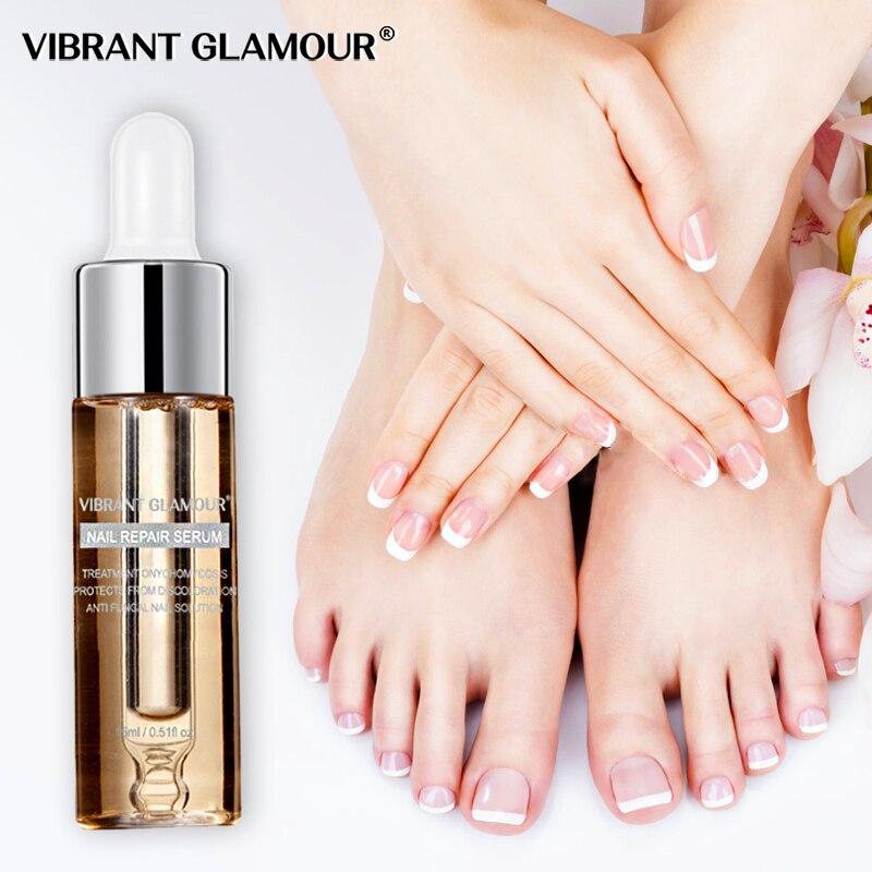 Suero de reparación de uñas GLAMOUR vibrante Esencia de tratamiento de uñas hongos onicomicosis eliminación Anti hongos uña del pie cuidado nutritivo de uñas