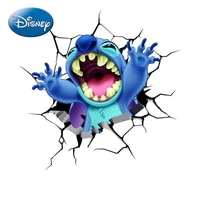 disney cartoon stitch car personality 3d stereo stitching stickers creative body door scratches car decoration stickers