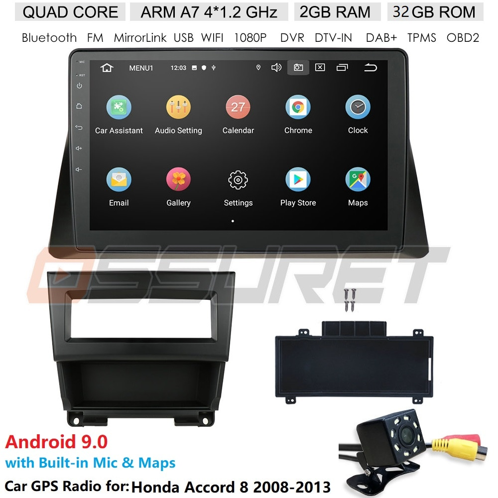 Radio de coche 4G RDS 10,1 Android 10, navegación GPS para Honda ACCORD 8 2008-2013, Multimedia DVR SWC FM CAM-IN BT, USB, DAB DTV OBD PC