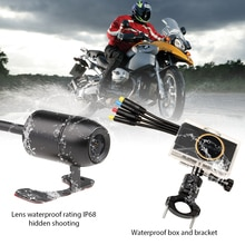 VSYSTO 3,0 carcasa metálica 1080P + 720P Cámara dual WiFi noche STARVIS motocicleta DVR soporte opcional GPS y Caja impermeable