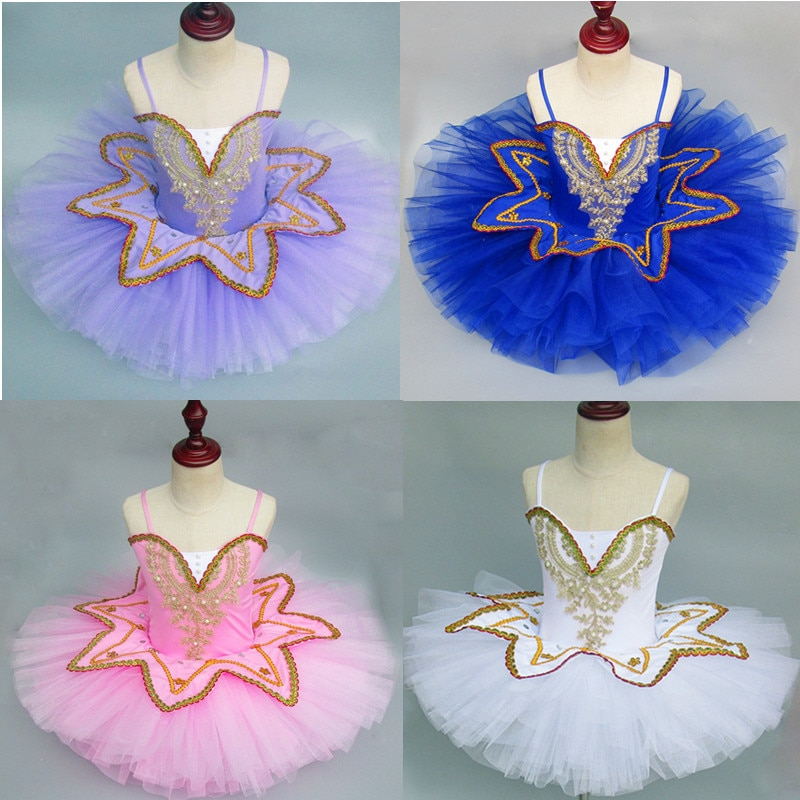 Dancetree-Vestido de tutú de Ballet para niñas, ropa de Ballet de color...
