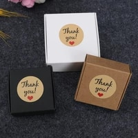 510pcs mini kraft paper packaging box jewelry gift boxes wedding birthday christmas gift package box with thank you tag sticker