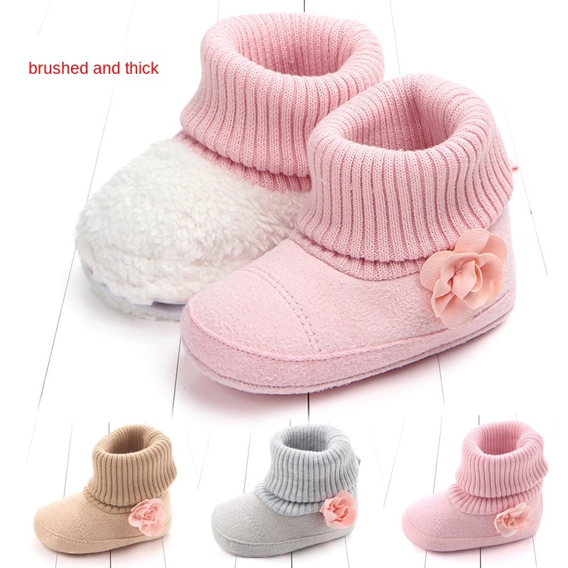 2020 New Winter Baby warm shoes cotton boots baby small flowers Cotton Warm Thick 0-1 years old toddler