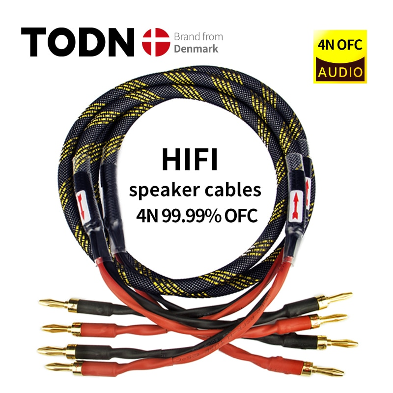 Canare L-4S8F one Pair oxygen-free copper audio speaker cable HI-FI high-end amplifier speaker cable Banana head cable