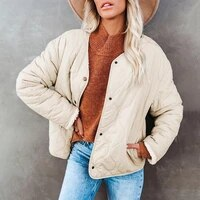 shiying solid color padded clothes womens autumn winter new style wear casual coat on both sides and warm cotton