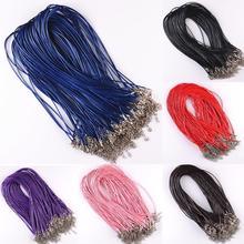 Verkauf 10 Teile/los Leder Ketten Armband Anhänger Charms Mit Hummer-haken DIY Schmuck, Die Entdeckungen String Schnur 1,5mm