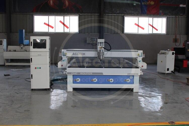 China Jinan AccTek Eco-friendly alta rigidez grabado 3D madera MDF mármol cnc maquina enrutadora AKM2030