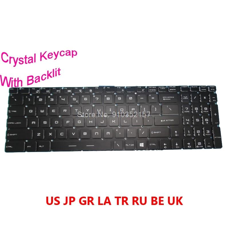 Клавиатура BE GR JP LA RU TR со стразами и подсветкой для MSI Alpha 17 MS-17EK / 17