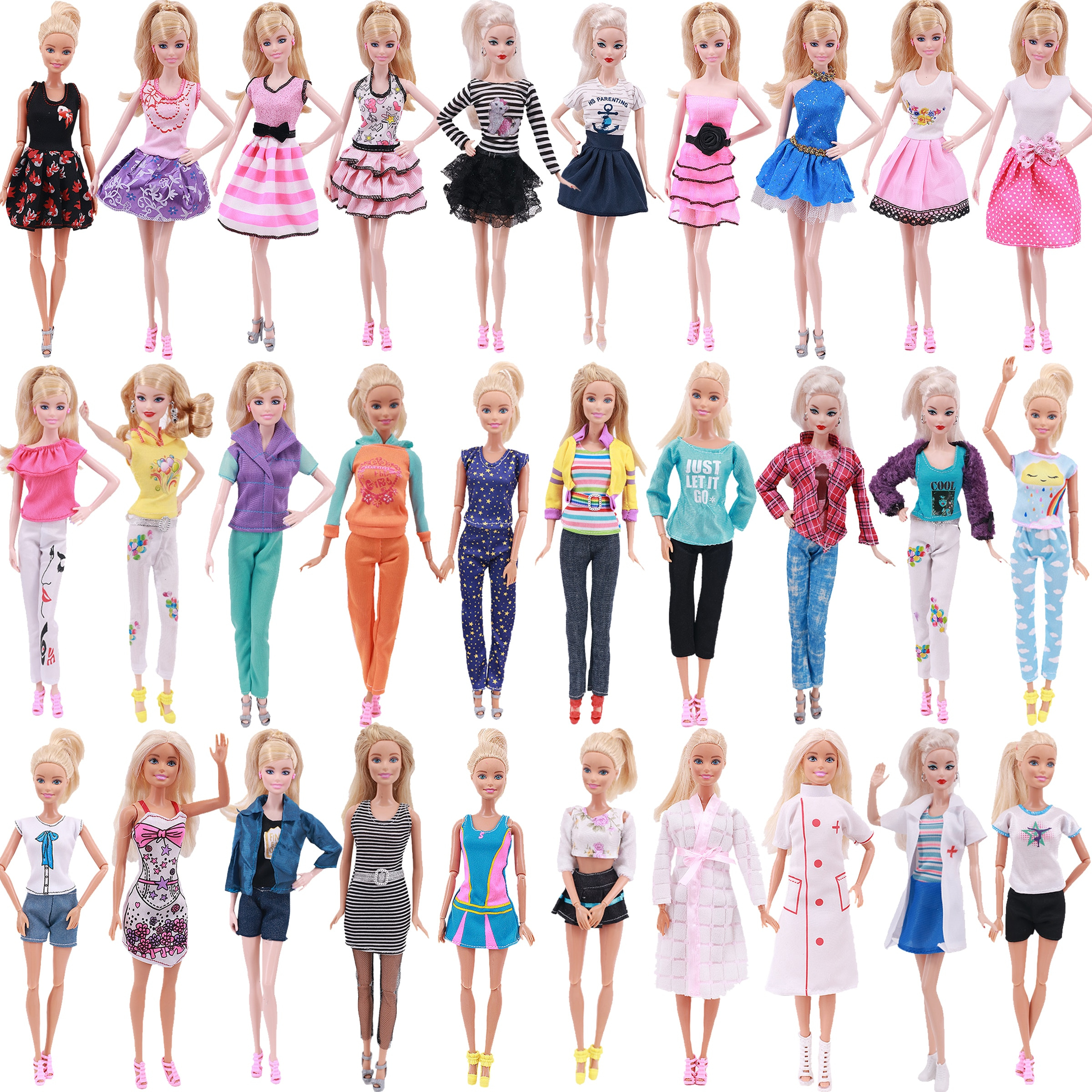 Одежда для Барби 3 шт. наряд ручной работы Повседневная футболка одежда + отправить 1 шт. обувь для куклы Барби благородный аксессуар для вече...