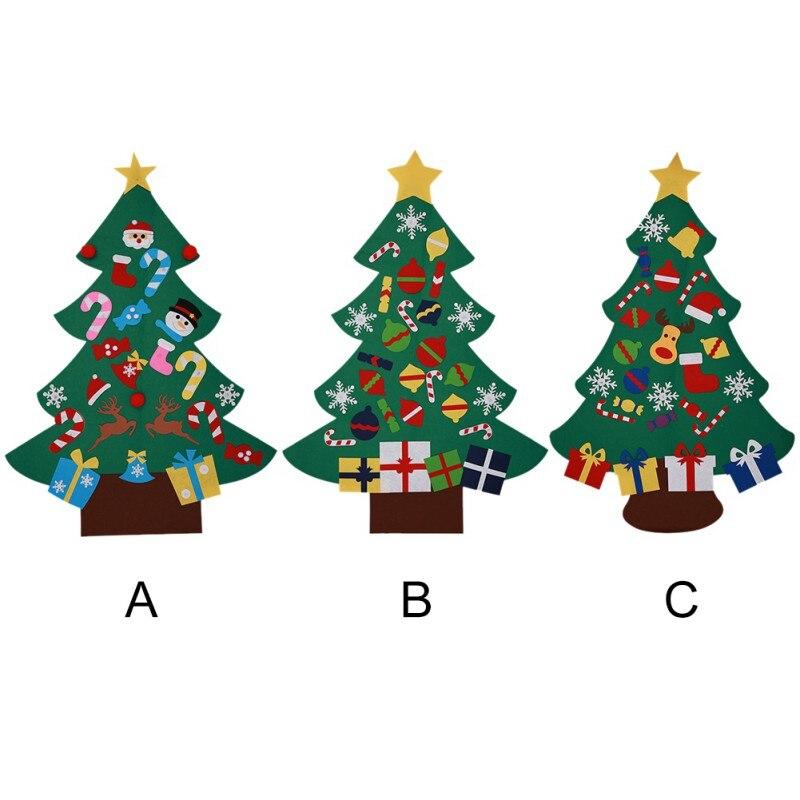 DIY árbol de Navidad regalos de Año Nuevo juguetes para niños adornos de pared de árbol Artificial decoración de Navidad para el hogar