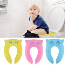 Baby Travel Folding Potty Seat toddler portable Toilet Training seat children urinal cushion children pot chair pad mat Cushion