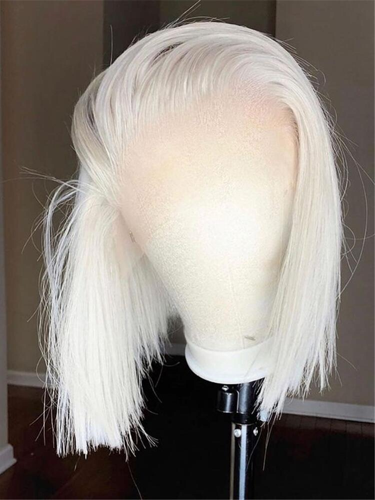 Middle Part Glueless 613 Honey Blonde T Part Lace Bob  Wig Brazilian Straight 13*6*1 Lace Front Human Hair Wigs Pre Plucked
