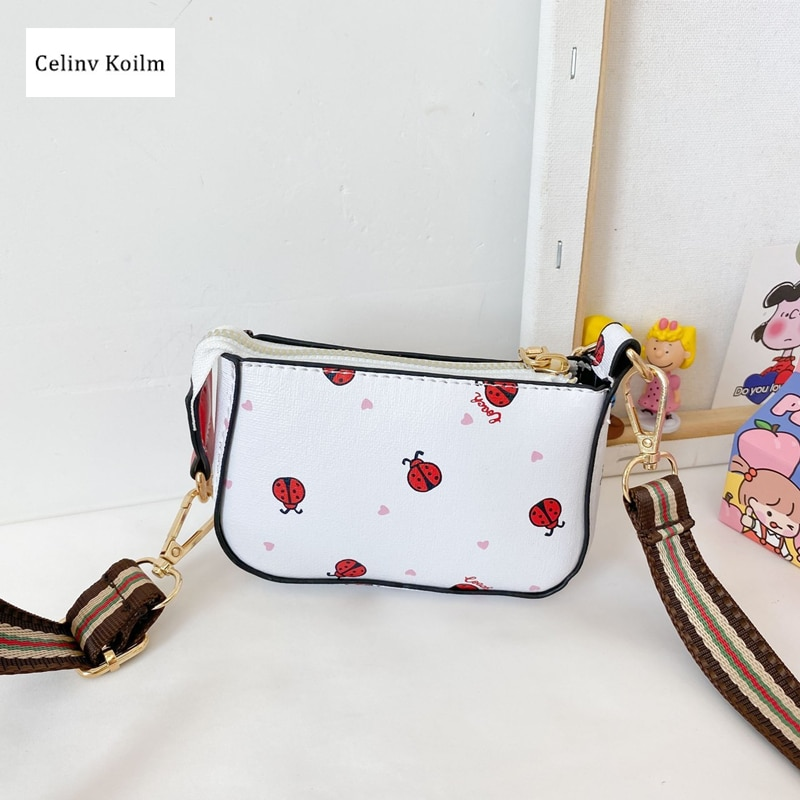 Celinv Koilm Children's Bags Female Cute Little Girls Messenger Baby Small Square Bag Girls Coin Purse Princess Fashion Small