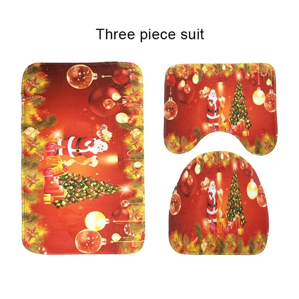 3 unids/set de diseño moderno, alfombra de Pedestal para el baño del hogar, alfombrilla antideslizante de franela, cubiertas antideslizantes para el baño, accesorios de baño