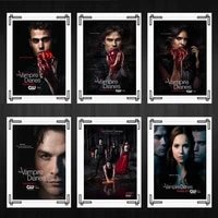 the vamp diaries poster and print home room decor pictures wall art canvas painting high quality nordic japanese anime tv series