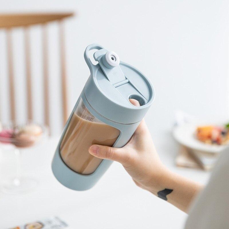 650 مللي خلاط كهربائي خلاط صغير الذاتي اثارة تسرب برهان خلط كوب زجاجة المياه المحمولة USB شحن BPA الحرة