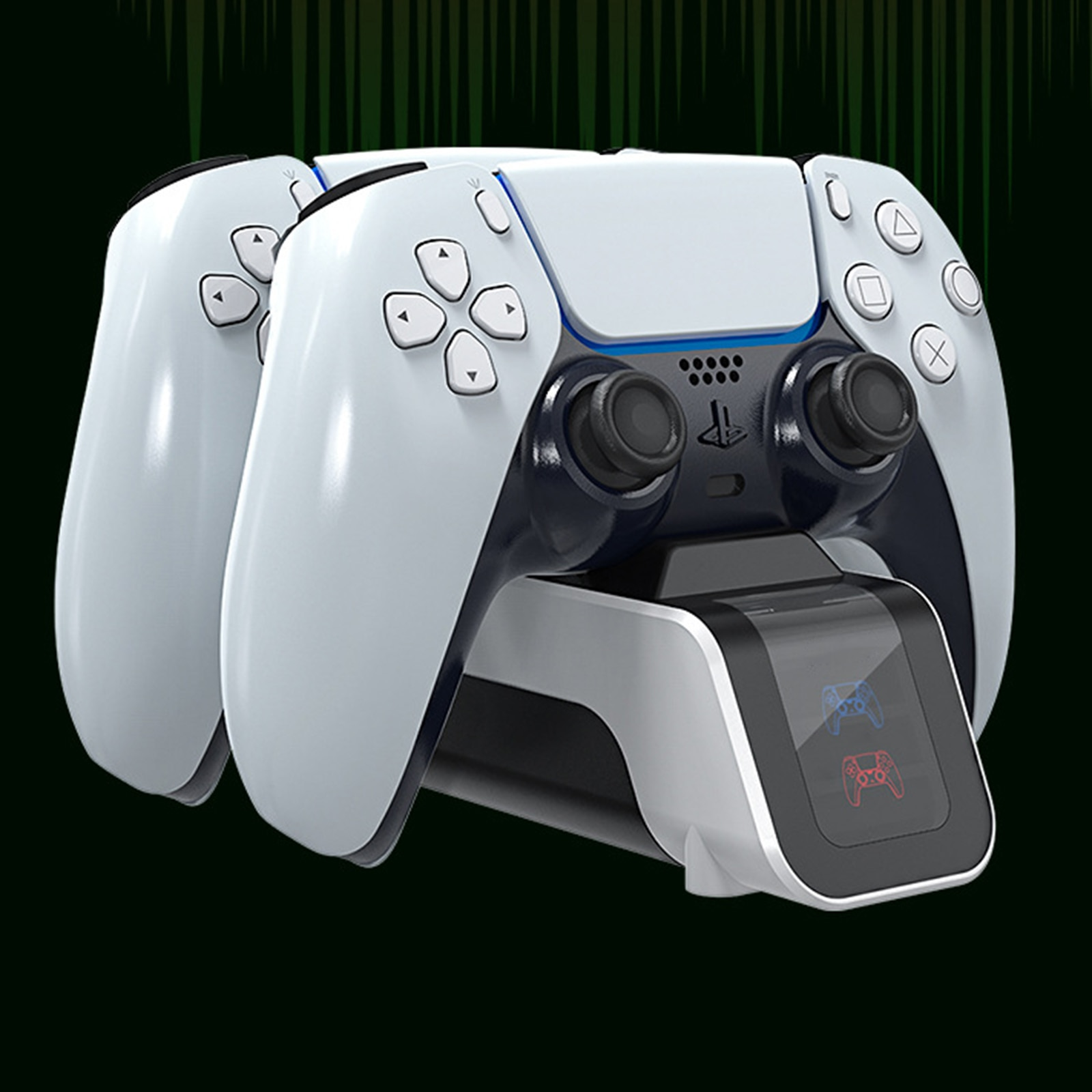 Dual USB Handle Fast 5V 1500MA Charging Dock Station Stand Charger for Play Station 5 PS5 Game Controller Joypad Joystick