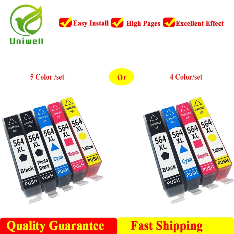Nuevo cartucho de tinta Compatible de alta calidad 564XL para impresora HP 564 Photosmart B8550 C6324 6340 Officejet 4610 4622 Deskjet 3070A