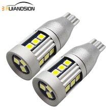 2 pièces 3030 SMD T15 W16W LED ampoule pour voiture arrière antibrouillard feu arrière 6W blanc 6000K 10V-30V 12V 24V 450lm Auto sauvegarde Singal lumières