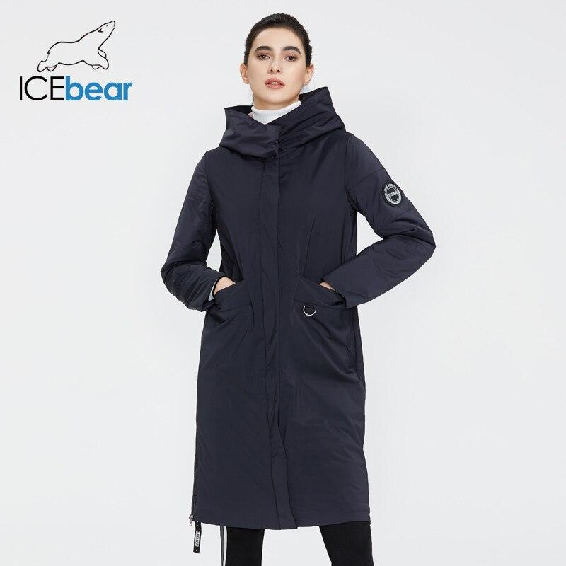 Icebear 2020 jaqueta feminina primavera qualidade casaco longo roupas femininas marca gwc20066i