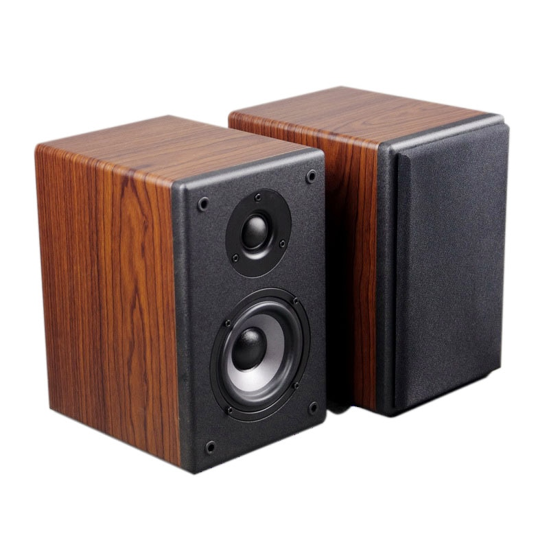 AS-4F hi-fi de 4 pulgadas, altavoz amplificador de fiebre de dos vías, altavoz pasivo de madera de grano, altavoz negro de 4-8 Ohm Pair35W de 4 pulgadas