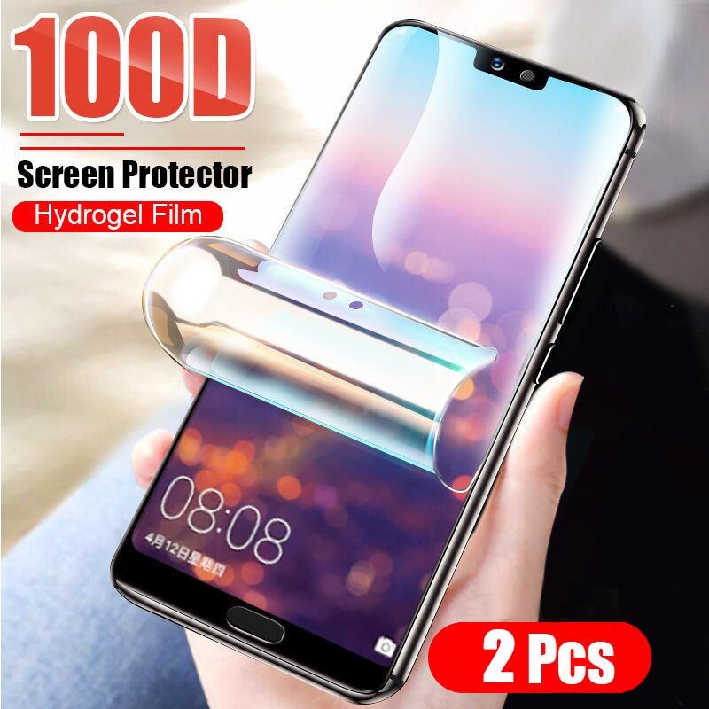 2 protectores de pantalla 100D para Huawei P40 P30 P20 Mate 20 Pro, película protectora para Honor 9X 8X 10 30 20 Pro