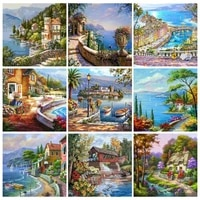 photocustom oil paint by numbers kits scenery 60x75cm painting by numbers on canvas frameless handpaint diy draw nmuber gift