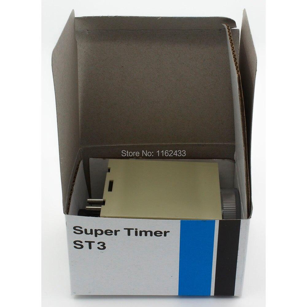 ST3PC-E ac 110 v tempo de atraso do temporizador 110vac 60 s/10 min/60 min/6 h do relé de tempo