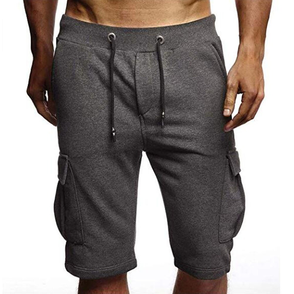 Men Summer Shorts Solid Color Simple Casual Pocket Sports Shorts For Beach Male Clothes Cotton shorts Stretch Soft Comfort