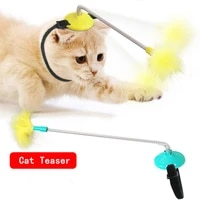 cat feather toys interactive cat feather wand indoor kitten exercise pet interactive supplies cat lifting toys interactive toy