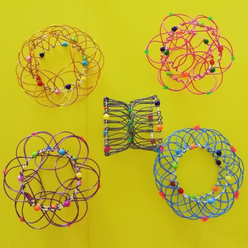 Baby Novelty Decompression Variety Flower Basket Soft Steel Magic Ring Ornament Magical Mandala Flower Basket Toy Hot Sale
