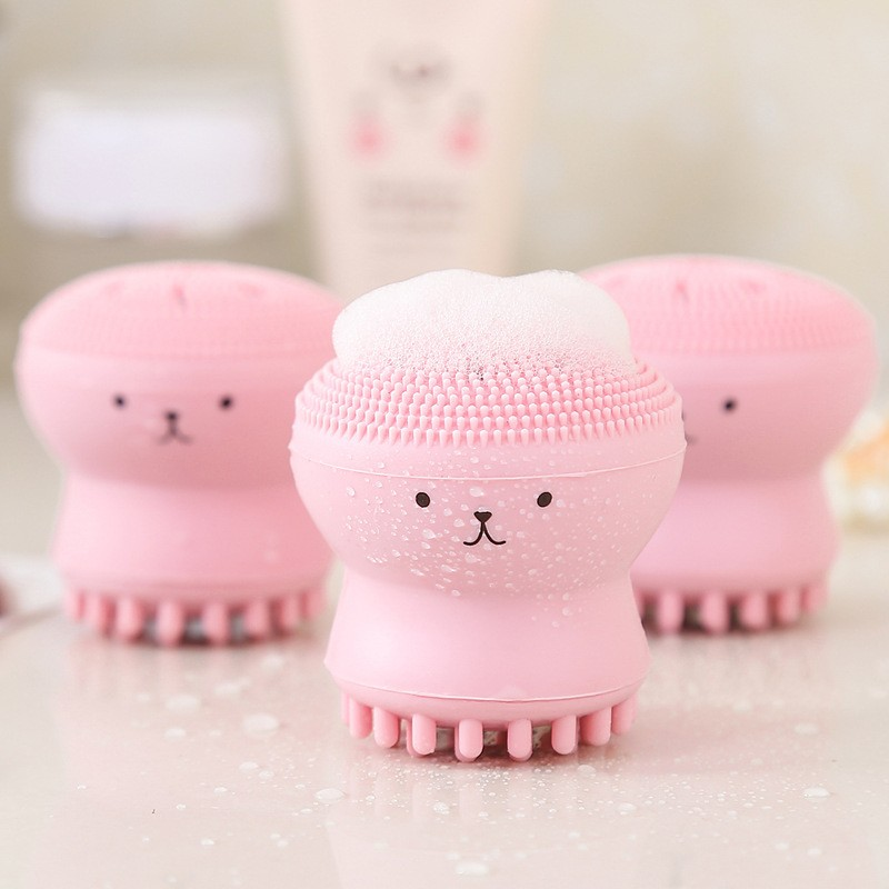Ctopus Shape Silicone Face Cleansing Brush Face Washing Product Pore Cleaner Exfoliator Face Scrub B