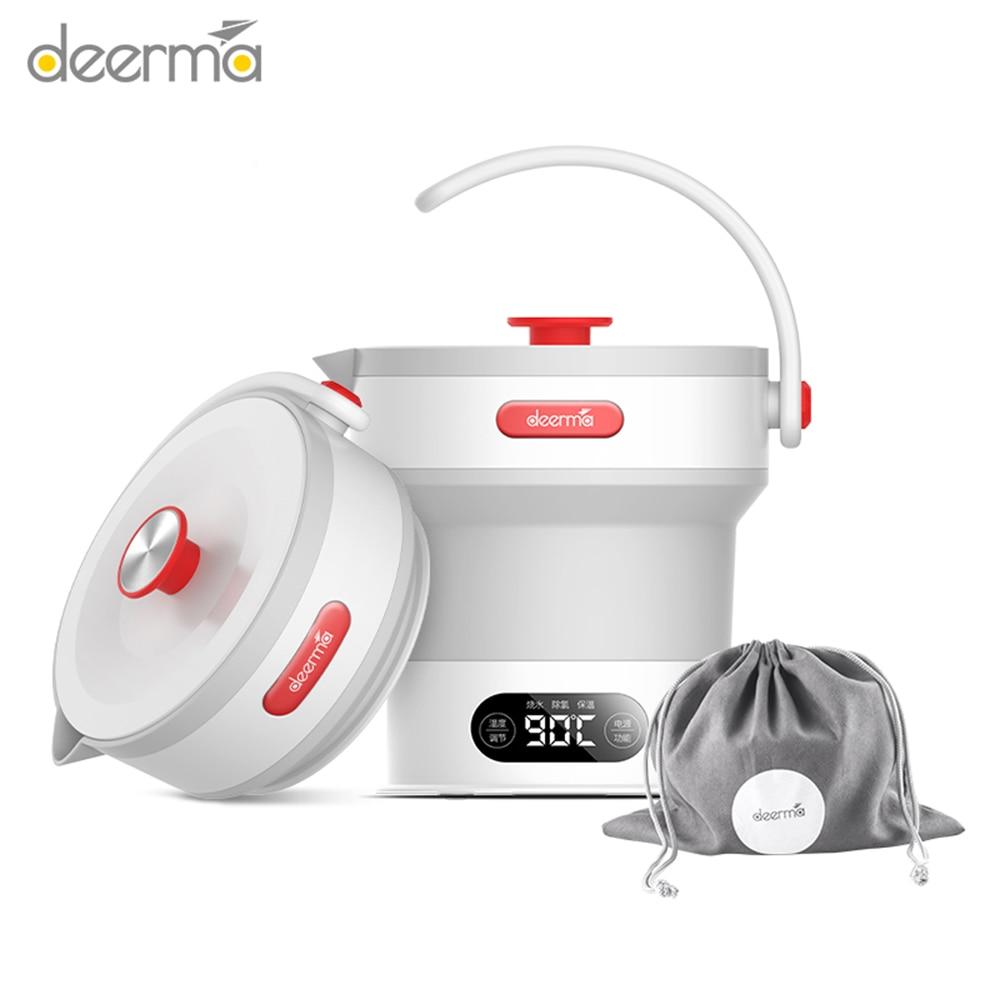 2019 novedad 01 Deerma DH300 VS DH306 Hervidor eléctrico plegable para el hogar capacidad 0,6l Acero inoxidable tetera hirviendo rápido