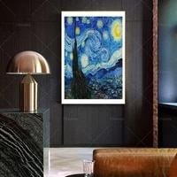 van gogh poster the starry night 1889 van gogh painting modern print gift idea wall art poster print canvas painting