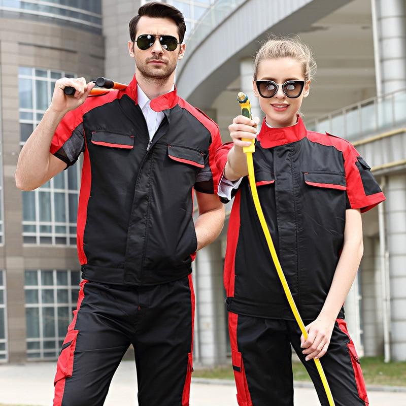 Рабочая одежда, рабочая одежда для мужчин и женщин, Комбинезоны для рабочих, униформа для автомобилей, мастерской, модный Рабочий костюм, механическая мастерская, куртка