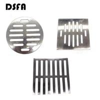 DSFA     couvercle de vidange de sol rond ou carre en acier inoxydable  couleur argent  fournitures de salle de bain