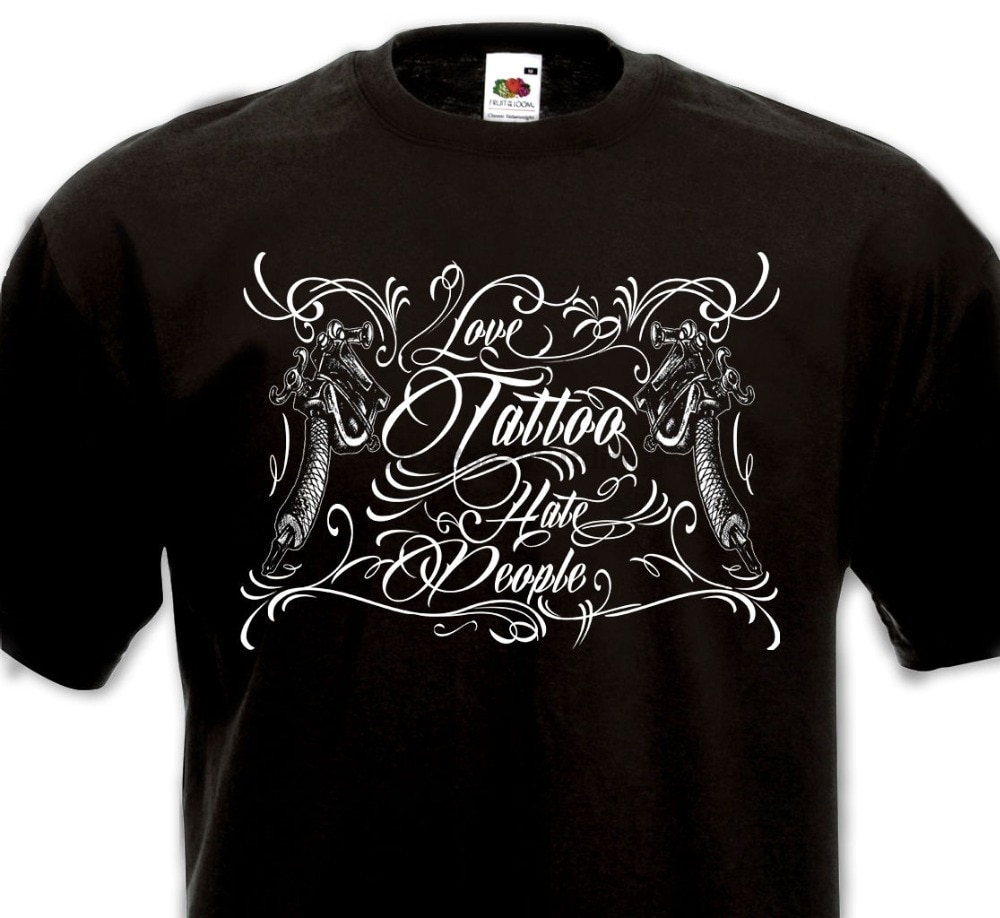 Verano de 2018 nueva camiseta-tatuaje-odio a la gente-Tatouage de la vieja escuela Mexicain Chicanos arma nueva marca de ropa Casual