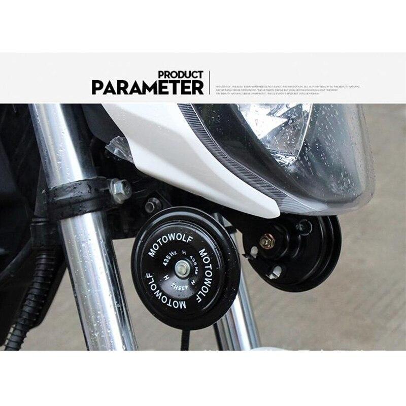 Bocina para motocicleta cromada de 12V para HONDA varadero xl1000 forza 250 pcx 150 xr400 hornet 600 cbr600f4i, accesorios para motocicleta