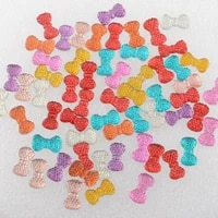 boliao 120pcs 712 mm 0 280 47 in bow shape resin jelly color scrapbook shiny delicate cell phone beauty home decor diy