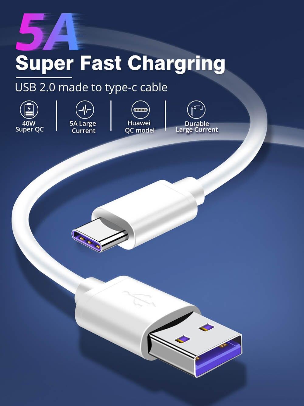 Cable micro USB tipo C de carga rápida, cable de datos para...