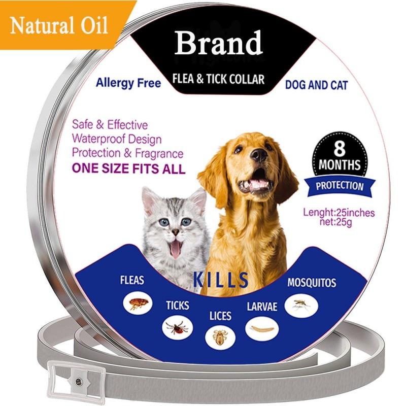 Collares antiparásitos ajustables para mascotas, perros, gatos, Mosquitos, protección contra ácaros, Fleas, garrapatas, pinzas, Control de rechazo de mascotas
