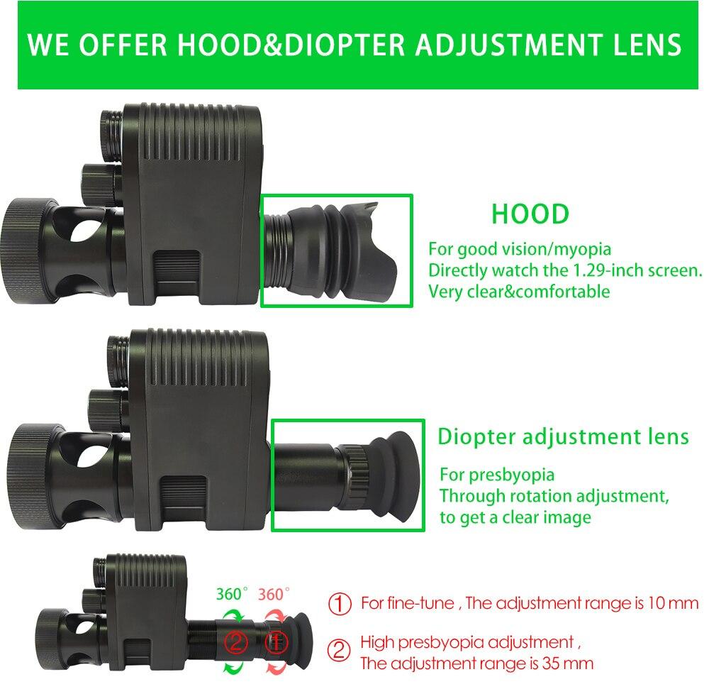 Купить с кэшбэком Megaorei 3 Night Vision RifleScope Optical Night Sight Spotting Scope HD720P VCR Hunting Camera Telescope with Laser IR