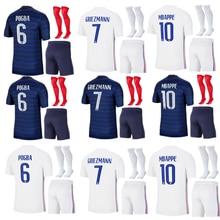 Maillot de football pour hommes, coupe européenne, France, MBAPPE, GRIEZMANN, POGBA, KANTE, 2020, 2
