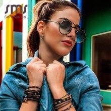 Lunettes de soleil Steampunk Vintage pour hommes   Miroir, bleu, noir, lunettes de soleil rondes de styliste 2020 pour femmes, rétro Punk, lunettes de lunettes UV400