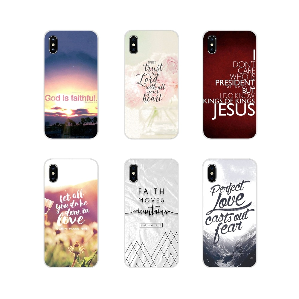 For Huawei G7 G8 P7 P8 P9 P10 P20 P30 Lite Mini Pro P Smart Plus 2017 2018 2019 Silicone Case Covers faith Bible Verse Scripture