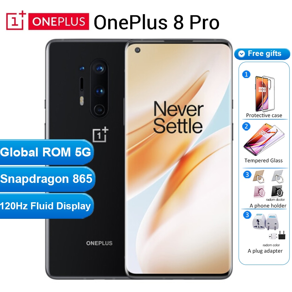 Téléphone portable international Oneplus 8 pro 5G 12GB 256GB /8GB 128GB 6.78